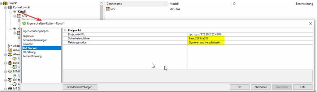 Siemens S7 1500 per OPC UA_Im Kepserverex abfragen 1